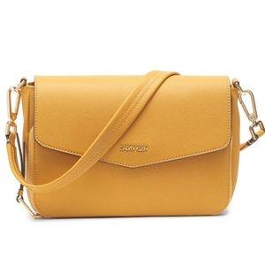 Calvin Klein Ava demo shoulder bag in Dijon yellow
